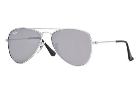 Ray-Ban 9506S Aviator Junior 212 / 6G Grey Silver Mirror Sonnenbrille