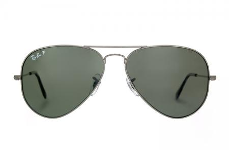 Ray-Ban Aviator 3025-004/58 Gunmetal Green Polarized
