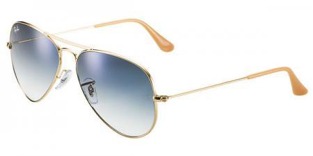 Ray-Ban 3025 Aviator 001 / 3F Gradient Light Blue Sonnenbrille
