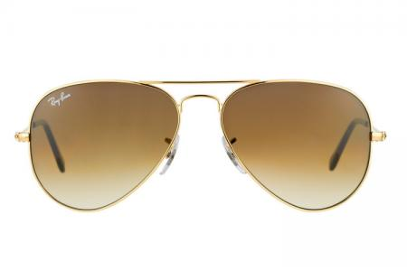 Ray-Ban 3025 Aviator 001 / 51 Brown Gradient Sonnenbrille