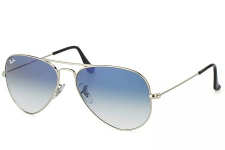 Ray-Ban Aviator RB3025-003/3F Silver Gradient Light Blue