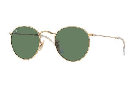 Ray-Ban 3447 Round Metal 001 Green Sonnenbrille