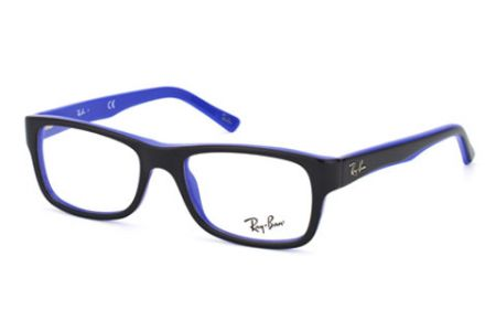 Ray-Ban RX 5268, Top Black on Blue 5179, 50