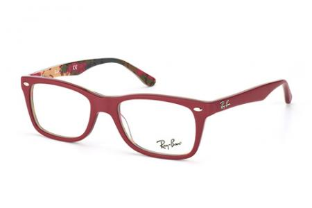 Ray-Ban RX 5228, Red Matt on Text 5406, 50