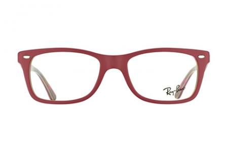 Ray-Ban RX 5228 - 50 Red Matt on Text 5406 Brille