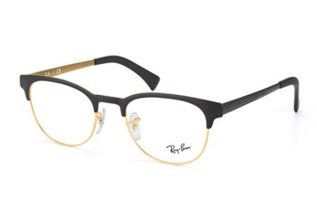 Ray-Ban New Clubmaster RX6317 2833, 51 Black/Matt Gold