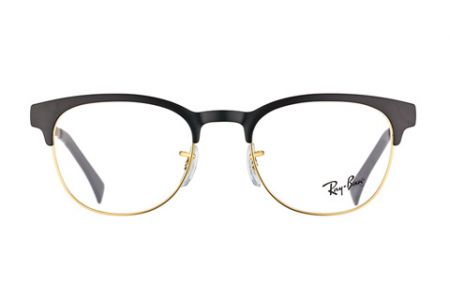 Ray-Ban New Clubmaster RX 6317 - 51 Black on Matt Gold 2833 Brille
