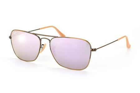 Ray-Ban 3136 Brushed Bronze Mirror Lilac 167/4K