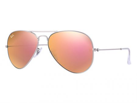 Ray-Ban 3025 Aviator 019 / Z2 Brown Mirror Pink Sonnenbrille