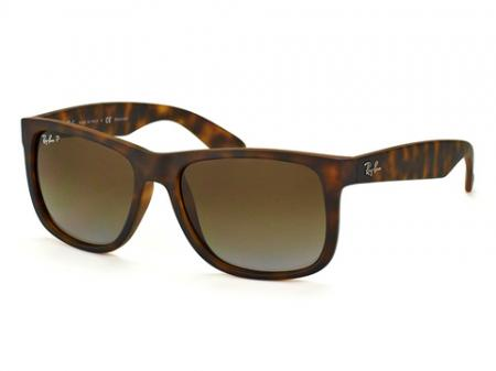 Ray-Ban 4165 Justin 865 / T5 Grey Gradient Brown Polarized Sonnenbrille