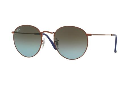 Ray-Ban 3447 Round Metal 9003 / 96 Blue Gradient Brown Sonnenbrille