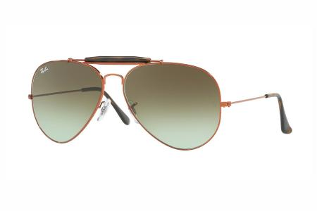 Ray-Ban 3029 Outdoorsman II 9002 / A6 Green Gradient Brown Sonnenbrille