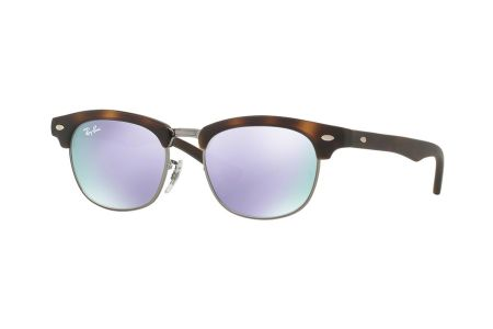 Ray-Ban 9050S Clubmaster Junior 7018 / 4V Lilac Flash Sonnenbrille