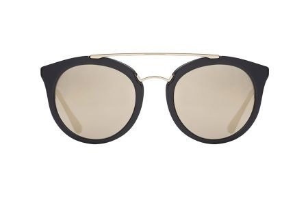 Prada 23SS-1AB1C0 Black Light Brown Mirror Gold