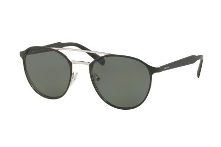Prada 62TS-1BO5X1 Matte Black/ Silver Polarized Green