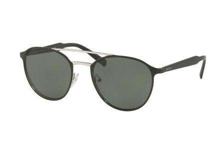 Prada 62TS-1BO5X1 Matte Black/ Silver Polarized Green