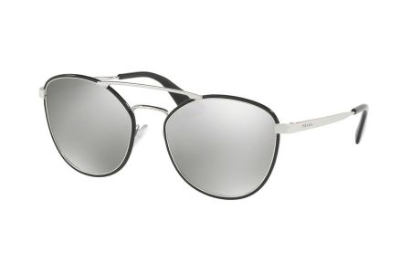 Prada 63TS-1AB2B0 Black Light Grey Mirror Silver