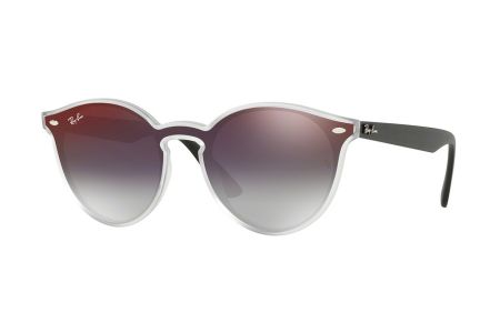 Ray-Ban 4380N 6355/U0 Matte Transparent Mirror Red