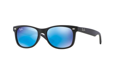 Ray-Ban 9052S Wayfarer Junior 100S / 55 Blue Mirror Sonnenbrille