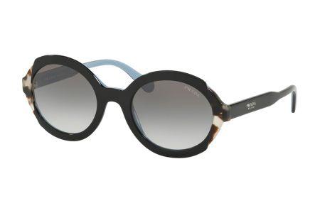 Prada 17US-KHR0A7 Top Black Azure/Spotted Brown Grey Gradient