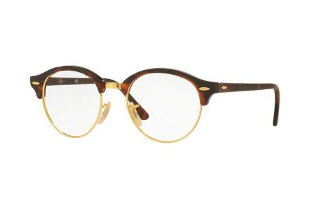 Ray-Ban Clubround RX 4246V - 47 Red Havanna / Gold 2372 Brille