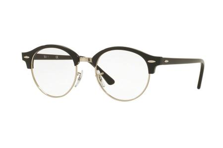 Ray-Ban Clubround RX 4246V-2000 Shiny Black/Silver 47