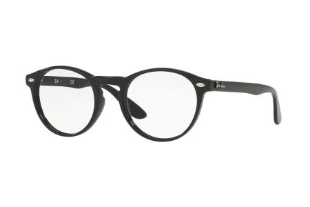Ray-Ban RX 5283-2000, Shiny Black, 49