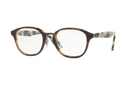Ray-Ban RX 5355-5676, Top Brown Havanna /Havanna Beige, 48