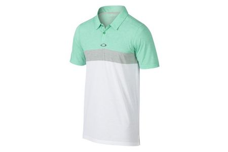 Oakley Anderson Herren Polo Green/Grey/White-M