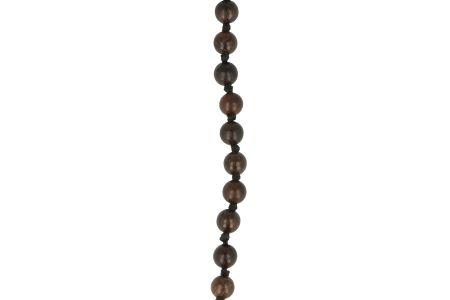 Brillenkette Holz Dunkelbraun geknüpft