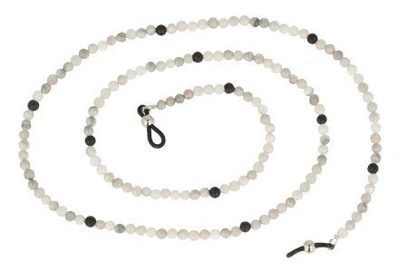 Brillenkette Achat Weiss / Grau / Schwarz