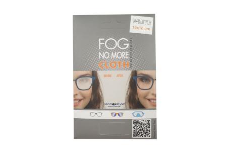 Fog No More Cloth Brillen-Antibeschlagstuch Weiss 1 Stück