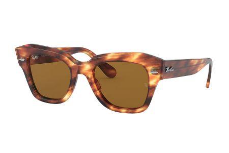 Ray-Ban 2186 State Street 954 / 33 Striped Havanna Sonnenbrille