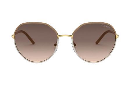 Prada 65XS 09G-3D0 Beige / Ivory Sonnenbrille